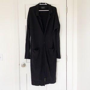 ZARA MAN sweater size large black cardigan long